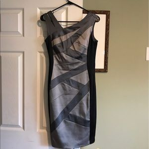 Silver and black dress
